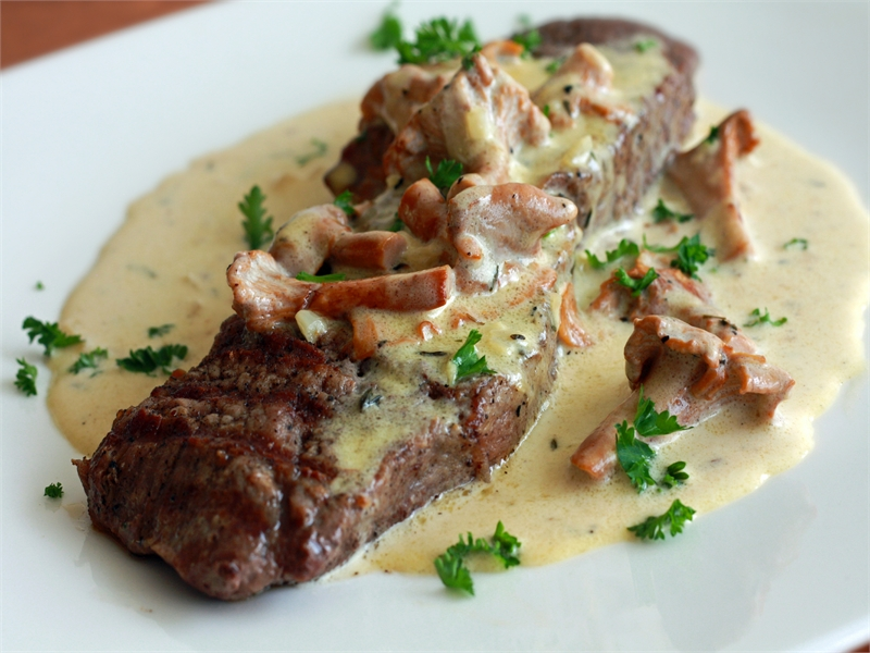 рецепт мясо с грибами в соусе рецепт с фото