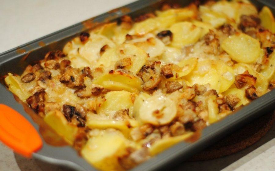 рецепт грибы маринованные с картошкой на сковороде