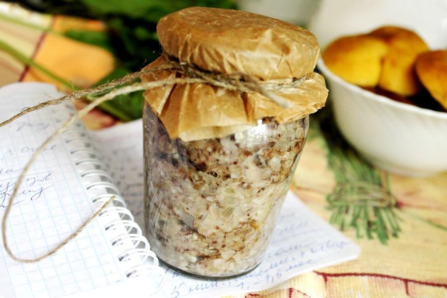 Икра из грибов рецепт на зиму с чесноком