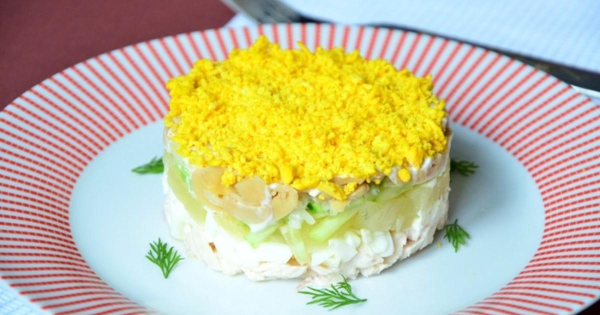 Салаты с маринованными грибами и курицей рецепты с