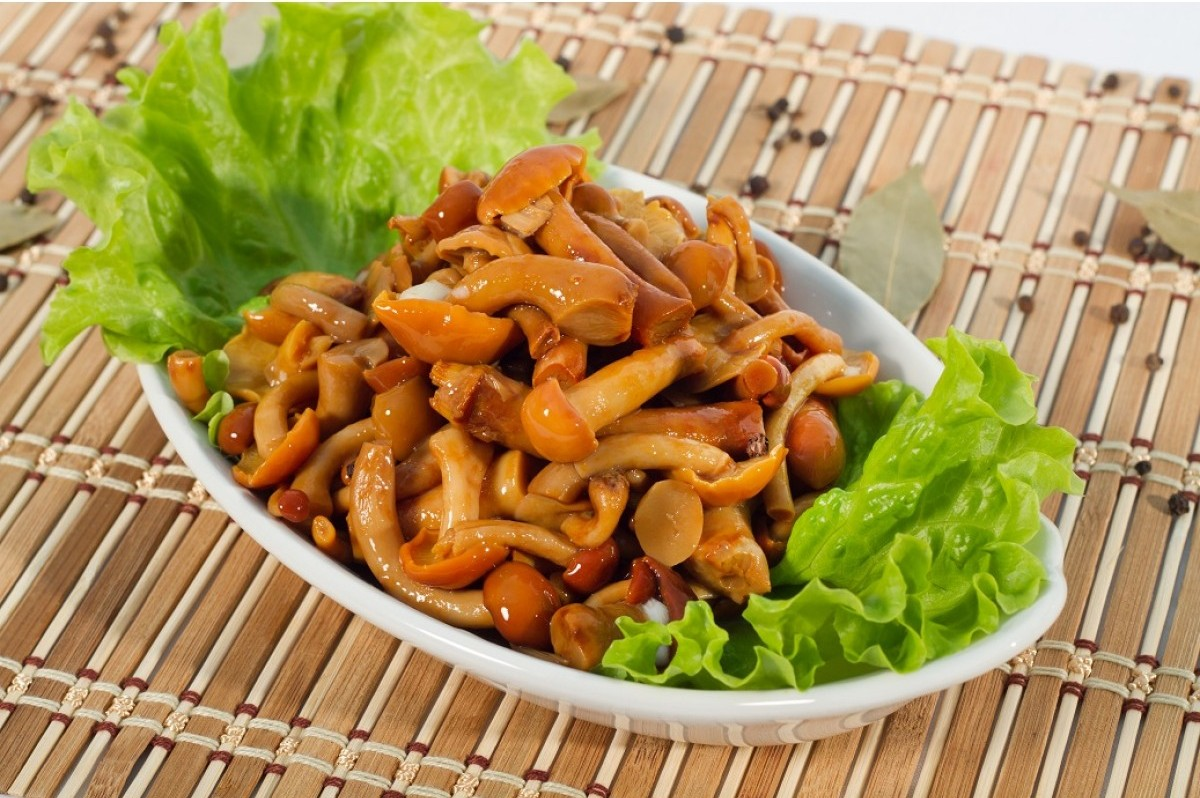 Рецепт салата с жареными опятами с