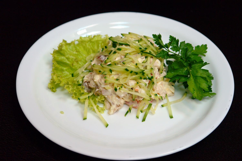 Салат с опятами маринованными рецепт с без майонеза