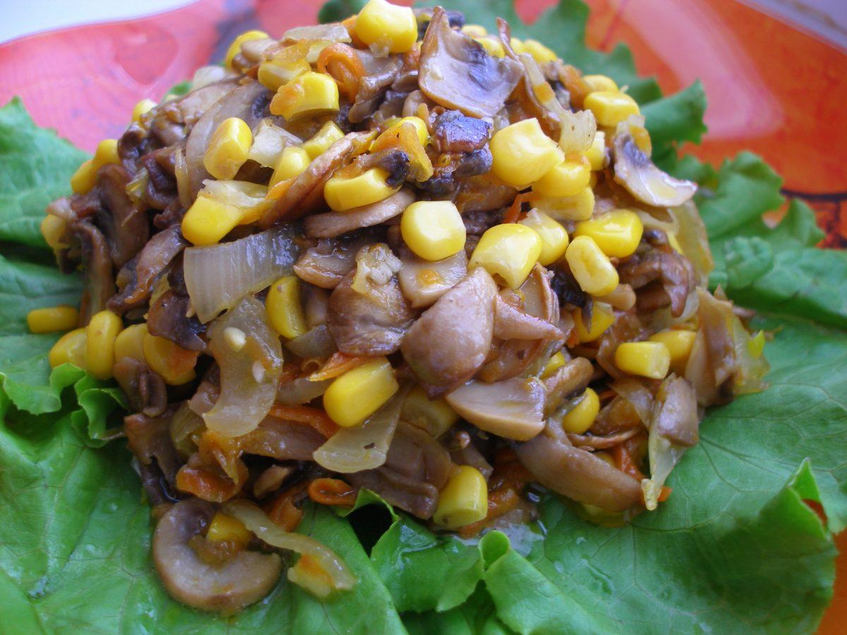 Салат с грибами рецепт с
